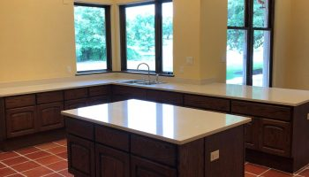 Catering Prep Kitchen at Garey House, with large counter top space and island