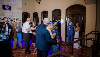 Couples dancing for the anniversary dance inside the Great Room